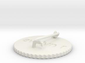 by kelecrea, engraved: evelyn rose  in White Natural Versatile Plastic