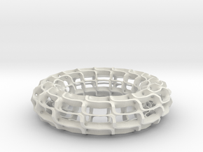 Saddle Tower Torus in White Natural Versatile Plastic