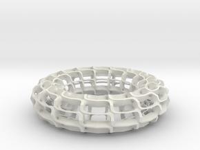Saddle Tower Torus in White Natural Versatile Plastic