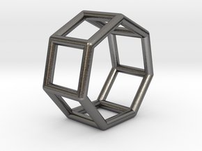 0360 Heptagonal Prism E (a=1cm) #001 in Polished Nickel Steel