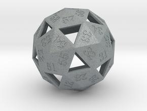 dice60 5cm in Polished Metallic Plastic