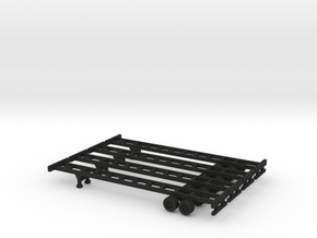 48 foot Container Chassis Set - Zscale in Black Acrylic