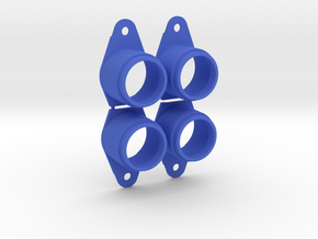 Pinball Button Housing (Cut-Off) #B-21018 (4 qty)  in Blue Processed Versatile Plastic