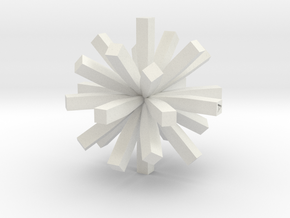 square asterisk in White Natural Versatile Plastic
