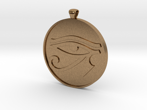eye of horus in Natural Brass