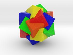 Compound of Twenty Cubes - Color in Full Color Sandstone