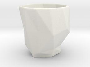 Polygonal Espresso Input Device in White Strong & Flexible