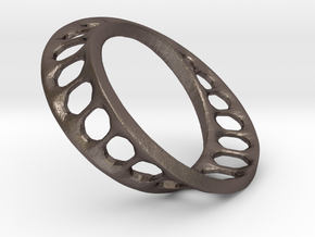 mobius track 4 cm in Polished Bronzed Silver Steel