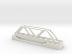 Red Bridge in White Natural Versatile Plastic
