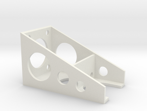Slot Car Throttle Holder 1 in White Natural Versatile Plastic
