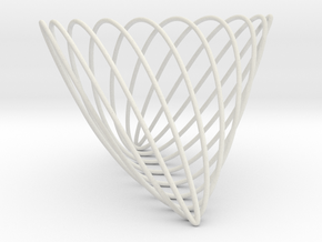 Lissajous (7, 3, 10) in White Natural Versatile Plastic