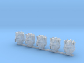 Autobot heads 001a (prime heads) (x5) in Smooth Fine Detail Plastic