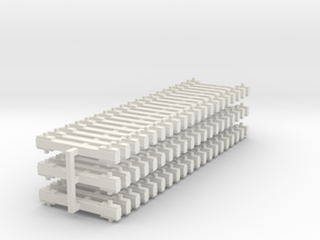NEM bars 60x5mm in White Natural Versatile Plastic