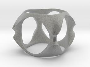Organic Cube in Metallic Plastic