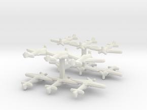 Ki-44 Tojo (Triplet) 1:900 x4 in White Strong & Flexible