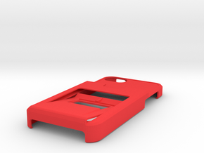 Tank iphone5 Opener case w/3CC and 1ID holder in Red Strong & Flexible Polished