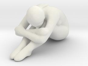 Female Sculpture 90mm in White Natural Versatile Plastic