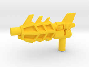 Transformers Twinstrike's 3mm Blaster in Yellow Strong & Flexible Polished