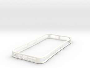 HeatLock (iPhone 5) in White Strong & Flexible Polished
