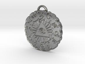 Zodiac Pendant in Polished Silver