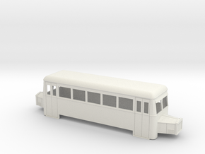 O9/On18 rail bus bogie (short) in White Strong & Flexible