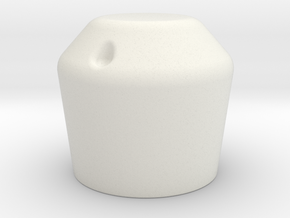 Panhead Knob for control knobs in White Natural Versatile Plastic