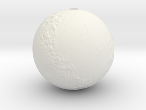Moon with surface detail in White Natural Versatile Plastic