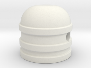 Dome style knob in White Natural Versatile Plastic