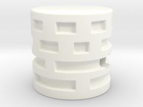 Maze Style knob in White Processed Versatile Plastic