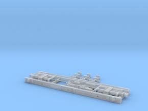 Neubau Rollwagen RF4 mit Druckluftbremse in H0m  in Smooth Fine Detail Plastic
