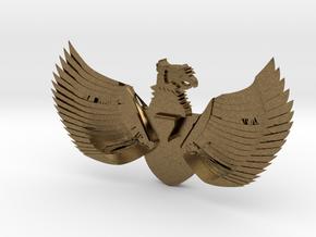 Indonesia Pendant Broche necklace in Natural Bronze