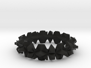 bangle 002 solid 75mm in Black Strong & Flexible