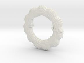 Flower Bracelet in White Natural Versatile Plastic