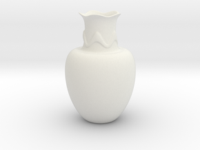 Decorative Vase  in White Natural Versatile Plastic