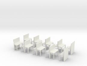 0e-Sitzgruppe Magic Train in White Natural Versatile Plastic