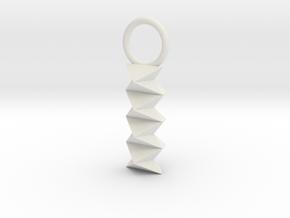 Origami: Waterbomb Series in White Natural Versatile Plastic