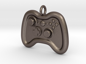 Controller Pendant in Polished Bronzed Silver Steel