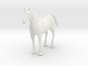 horse in White Natural Versatile Plastic