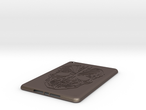 iPad mini Skull Case in Polished Bronzed Silver Steel