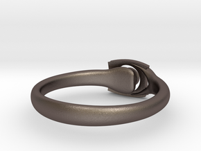 OnYearTogether ring in Polished Bronzed Silver Steel