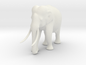 elephant 60mm in White Natural Versatile Plastic