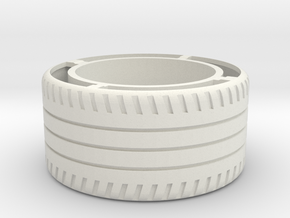 rim R8 REAR wheel in White Natural Versatile Plastic
