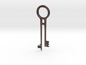 Davy Jones's Key in Matte Bronze Steel