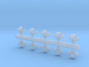10 Reptilian interceptors in Smooth Fine Detail Plastic