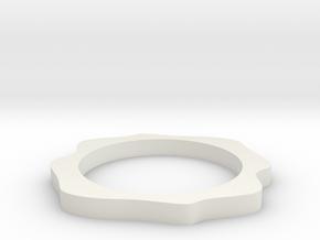 Sinus ring in White Natural Versatile Plastic