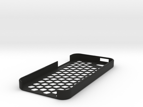iPhone 5 Honey Comb Plug Case in Black Strong & Flexible