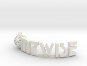Pointwise text Logo in White Natural Versatile Plastic