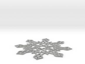 Islamic Snowflake Ornament in Metallic Plastic
