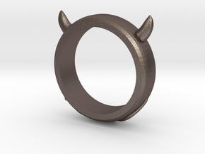 Devilish Ring - Size 12 in Polished Bronzed Silver Steel