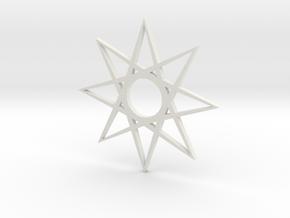 star1 ornament by Jorge Avila in White Natural Versatile Plastic